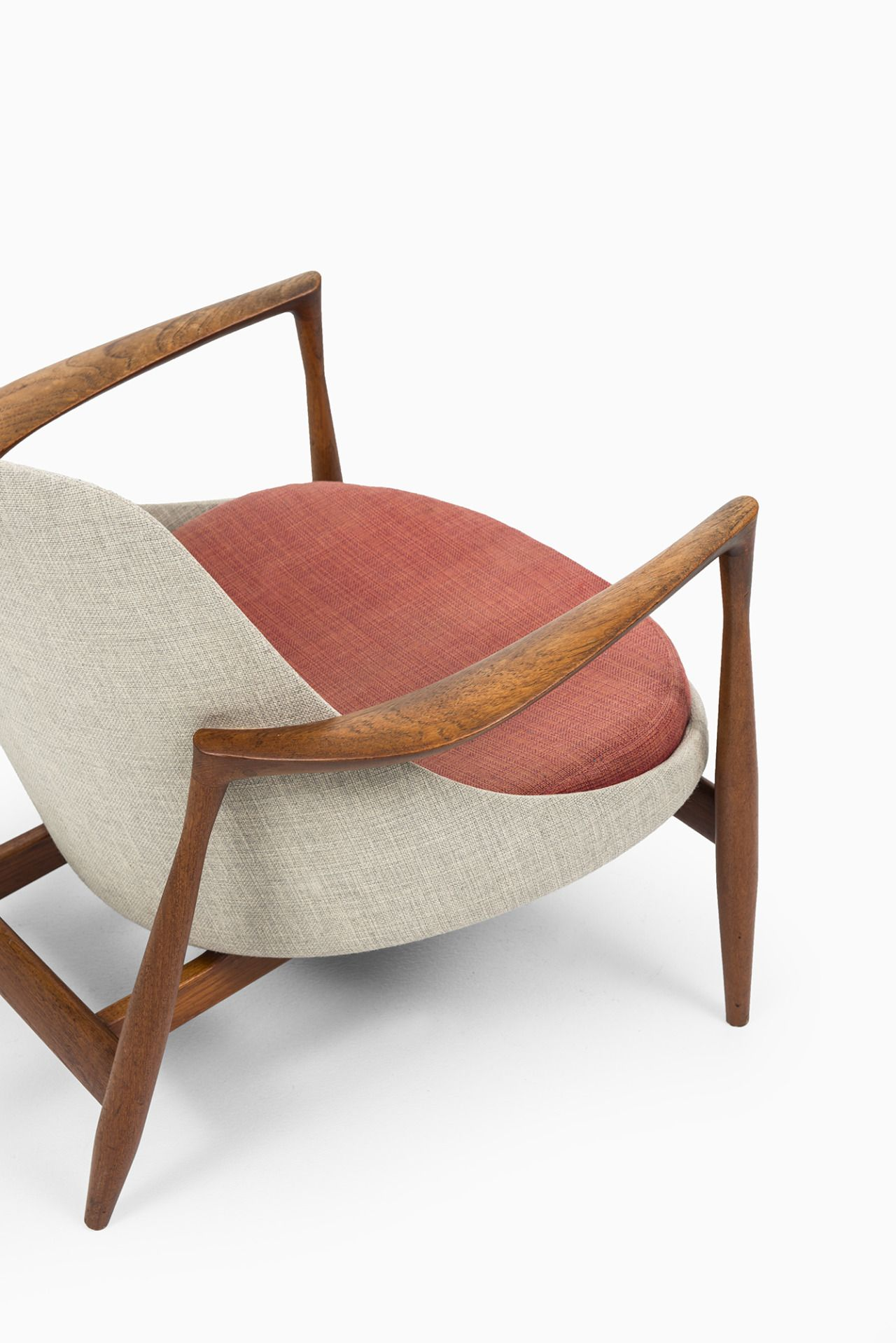 Schalling:Rare Easy Chair Model Elizabeth Designed By Ib Kofod Larsen.  Produced By