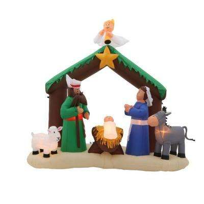 7 ft Inflatable Nativity Scene Christmas Pinterest Christmas - lowes halloween inflatables