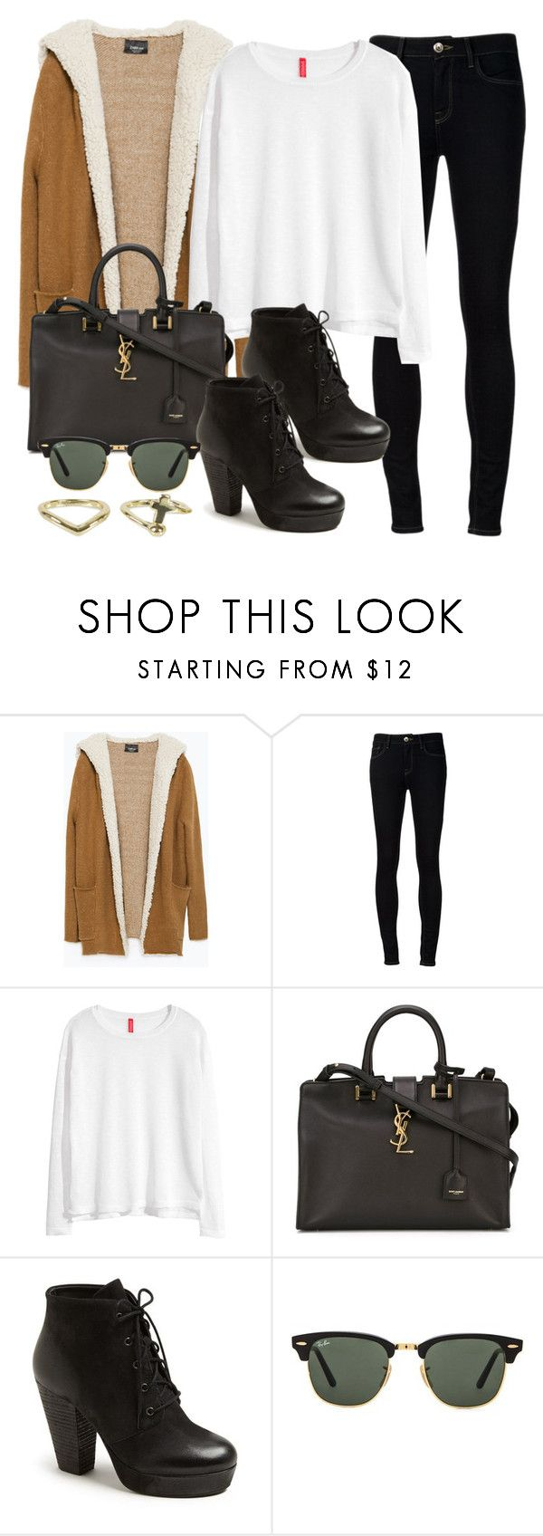 """Style #9422"" by vany-alvarado ❤ liked on Polyvore featuring Zara, Ström, H&M, Yves Saint Laurent, Steve Madden, Ray-Ban and NLY Accessories"