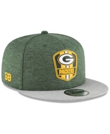 New Era Green Bay Packers On Field Sideline Road 9FIFTY Snapback Cap - Green  Adjustable 2052f8d14