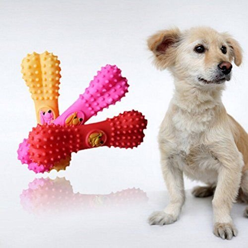 Littlepiano Pet Dog Puppy Cat Bone Chews Toy Squeaker Sound Play