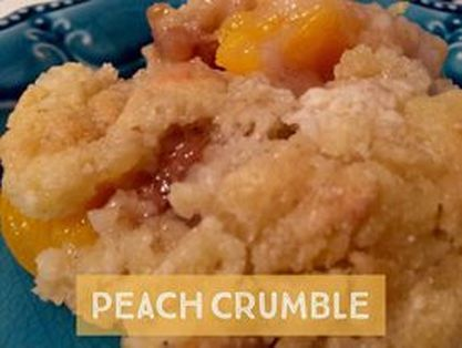 Recipe:  Peach Crumble  http://www.twohensandtheirchicks.com/recipe-peach-crumble.html