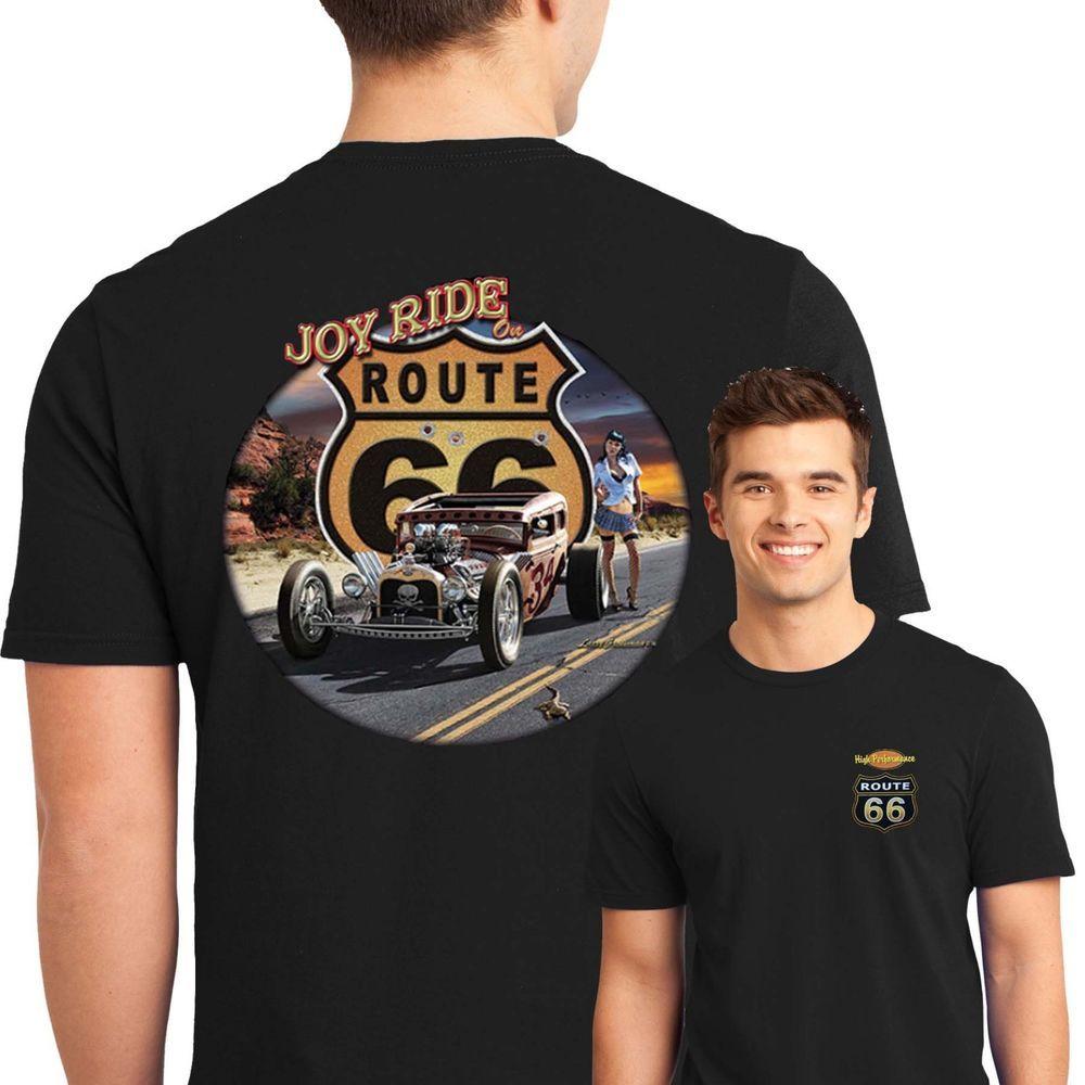 T-Shirt Chopper Biker HOT ROD Pin Up VINTAGE RETRO KUSTOM V8 Route 66 USA 229