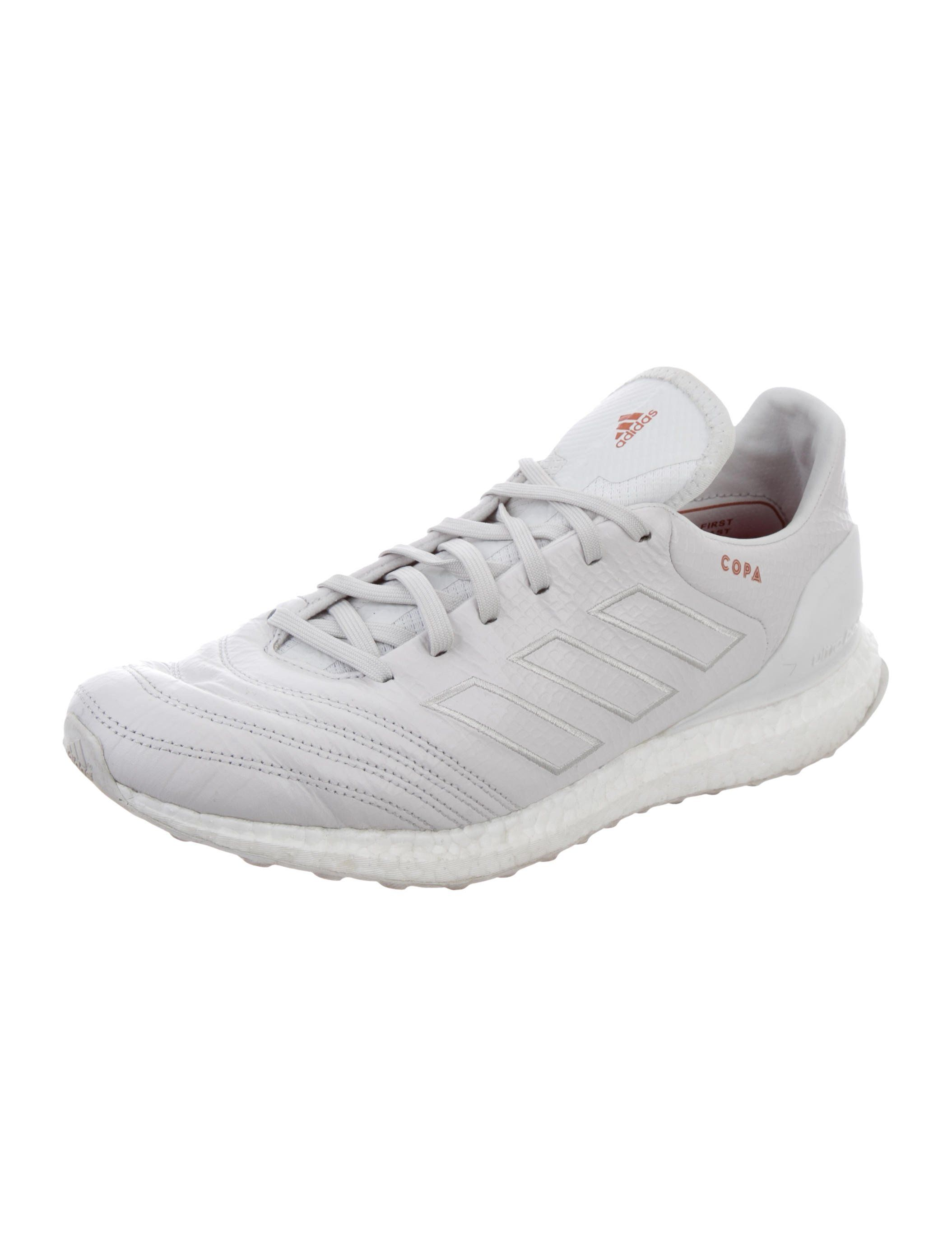 premium selection 2f0bd 03903 From the June 2017 Kith Collaboration. Men s white embossed leather Adidas  Copa Mundial 17 Ultraboost  Kith Cobras  round-toe low-top sneakers with  tonal st