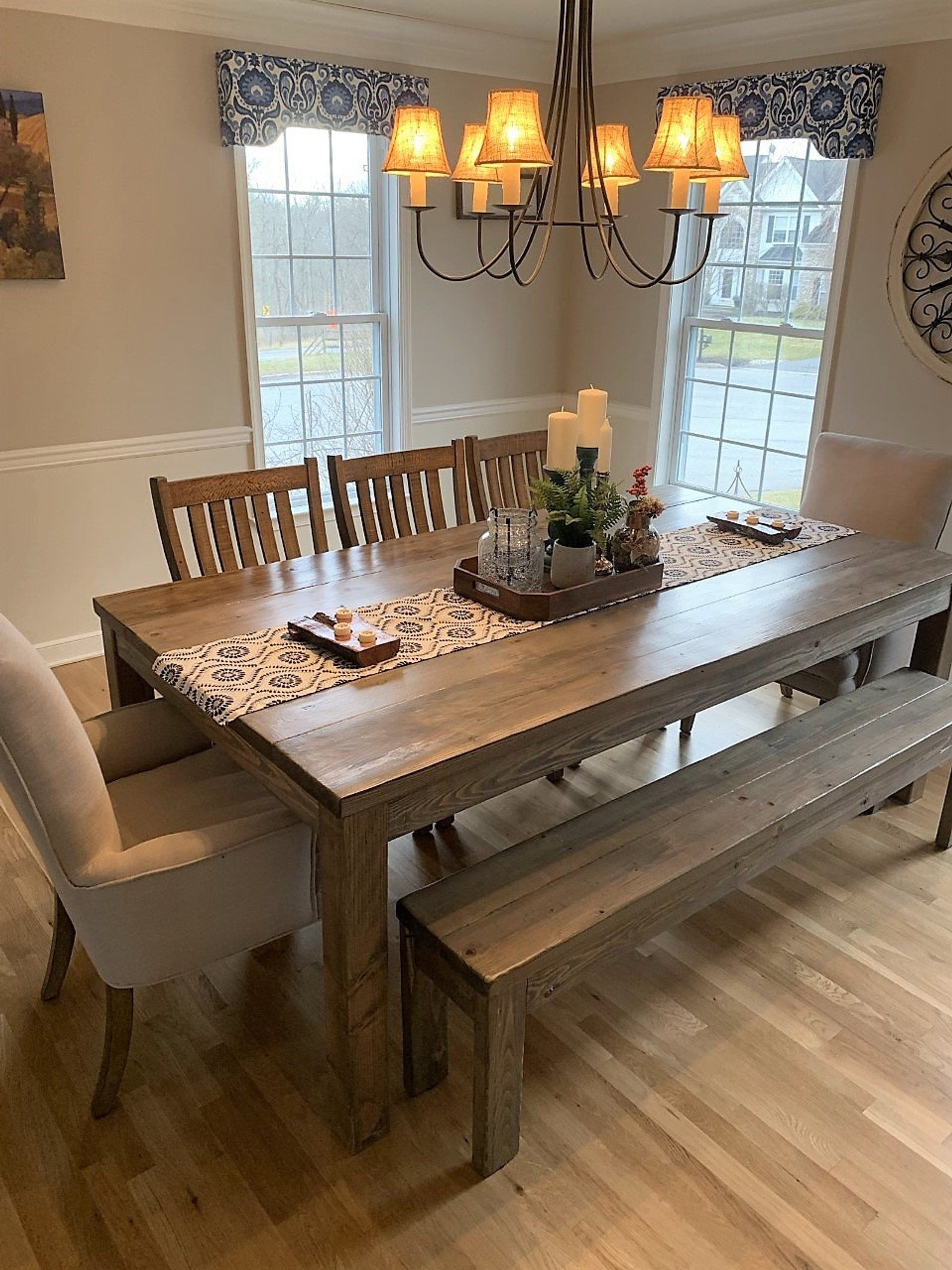 Rustic Farmhouse Dining Table Room In 2019