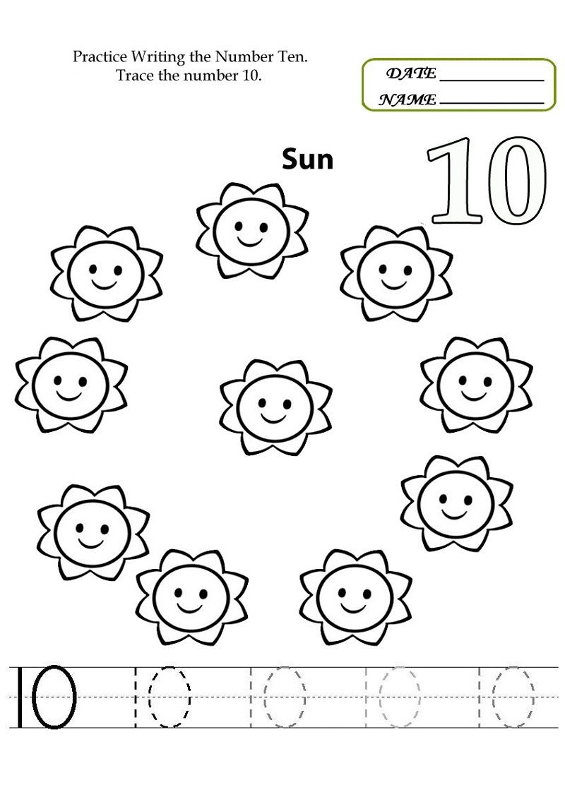 Number 5 Worksheets to Print  Kindergarten math worksheets