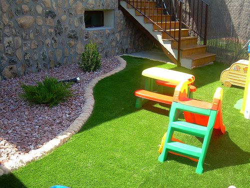 cesped sintetico hogar pinterest jardines peque os