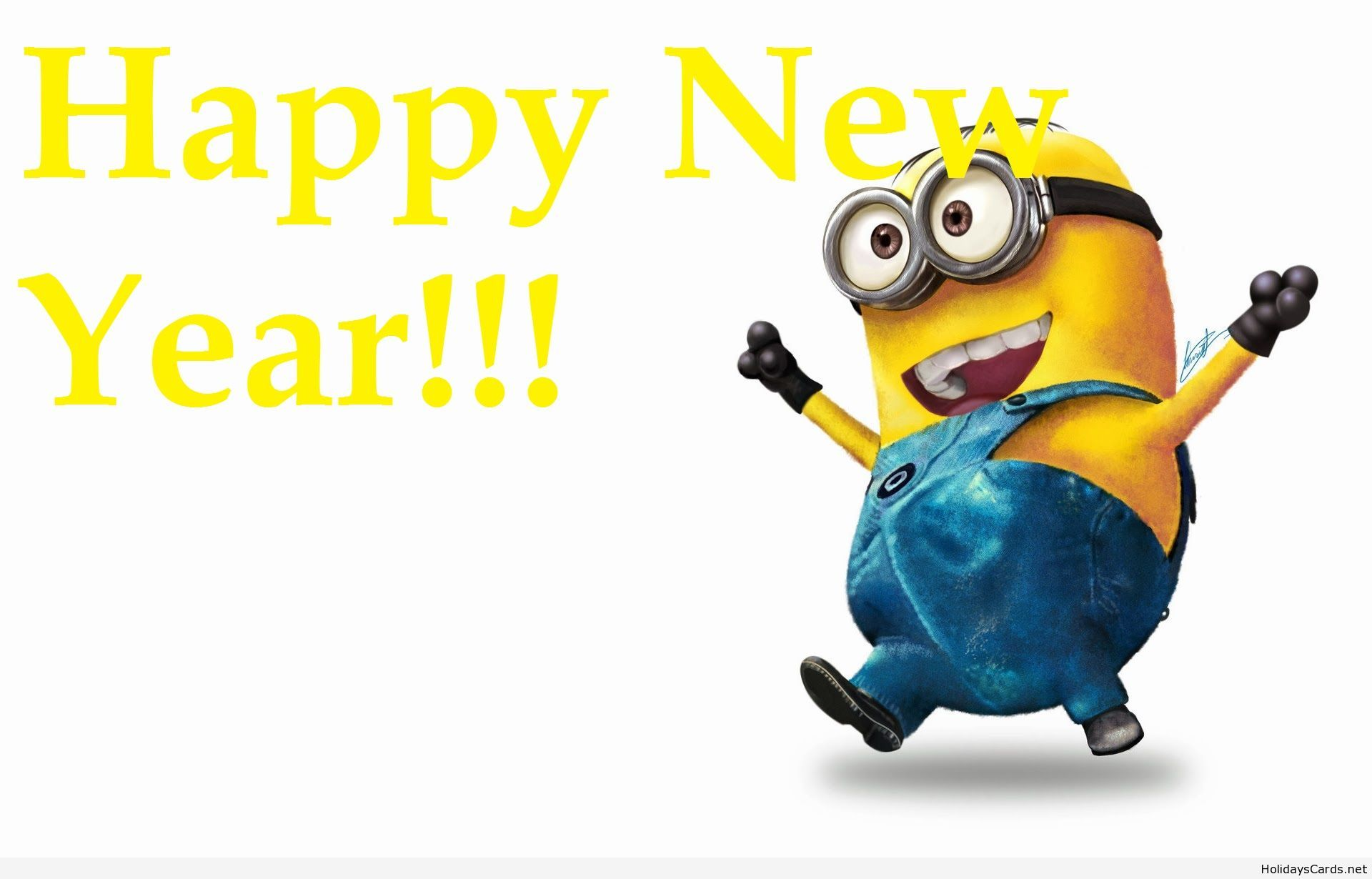 happy new year funny happy minion