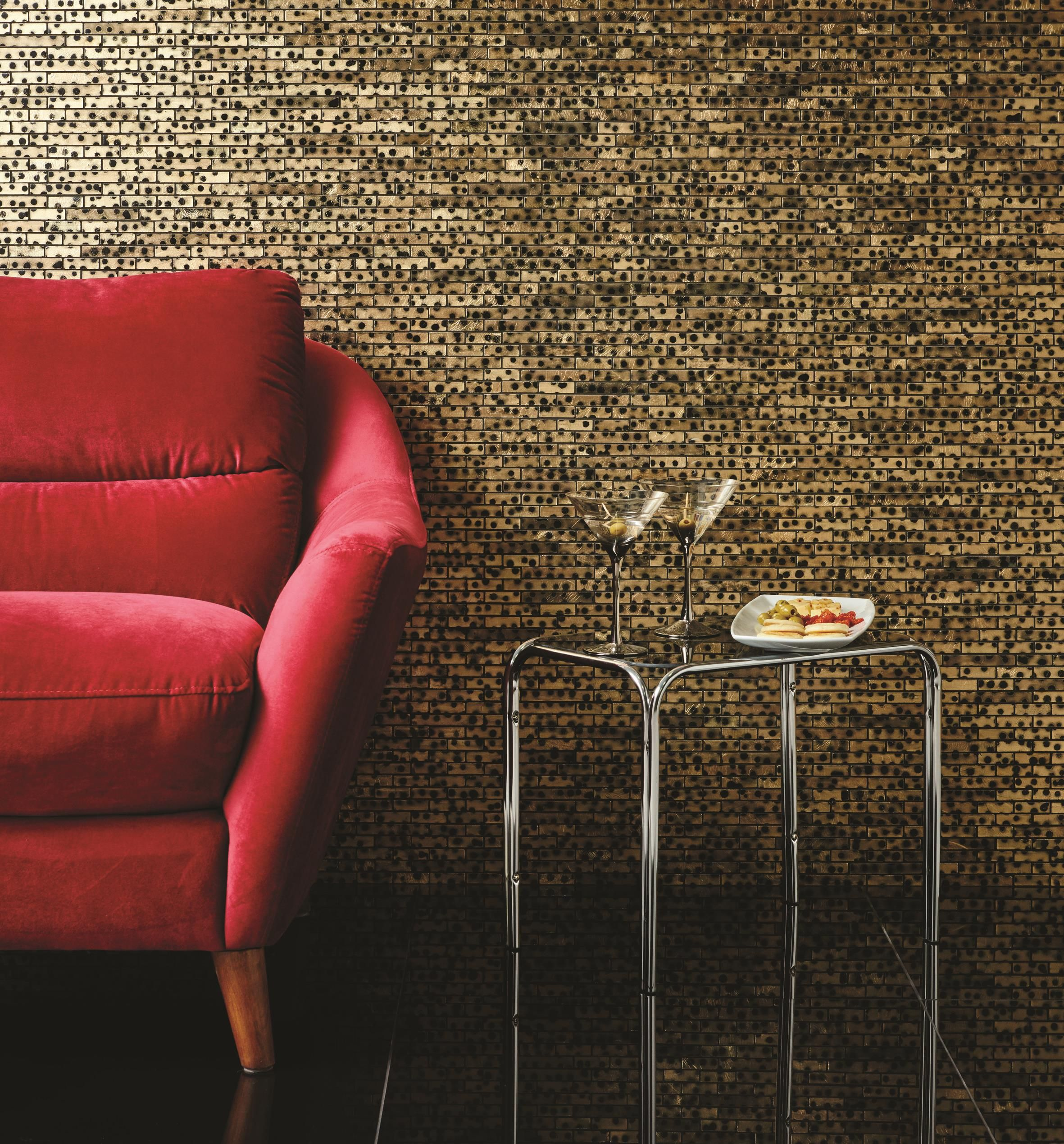 Cheyenne leopard print glazed stone mosaics are not for the faint hearted! Available in a chic brickbond format, these tiles are perfect for creating a statement look around the home. originalstyle.com