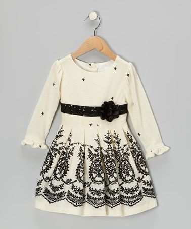 Take a look at this Ivory Ornate Dress - Toddler & Girls by Youngland on #zulily today!