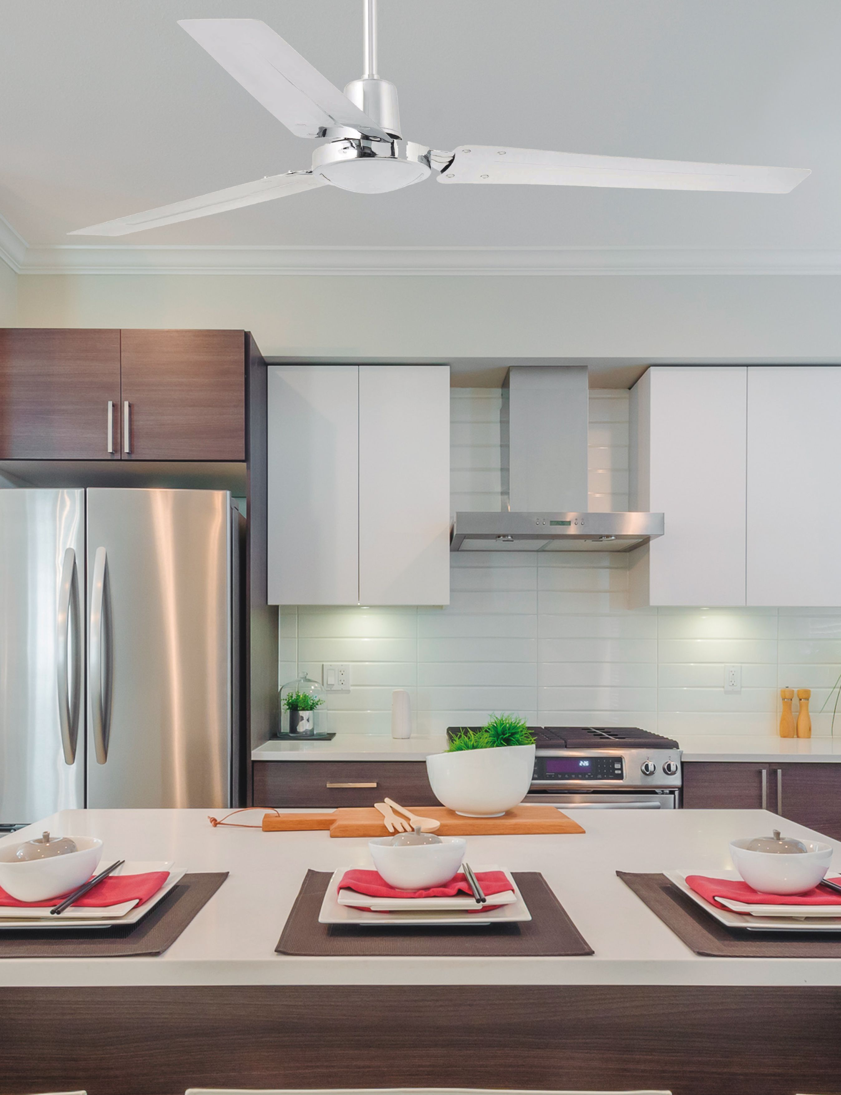 Ventilador de techo de l neas modernas moderno ideal para habitaciones a partir de 17 6m2 - Ventilador de techo moderno ...
