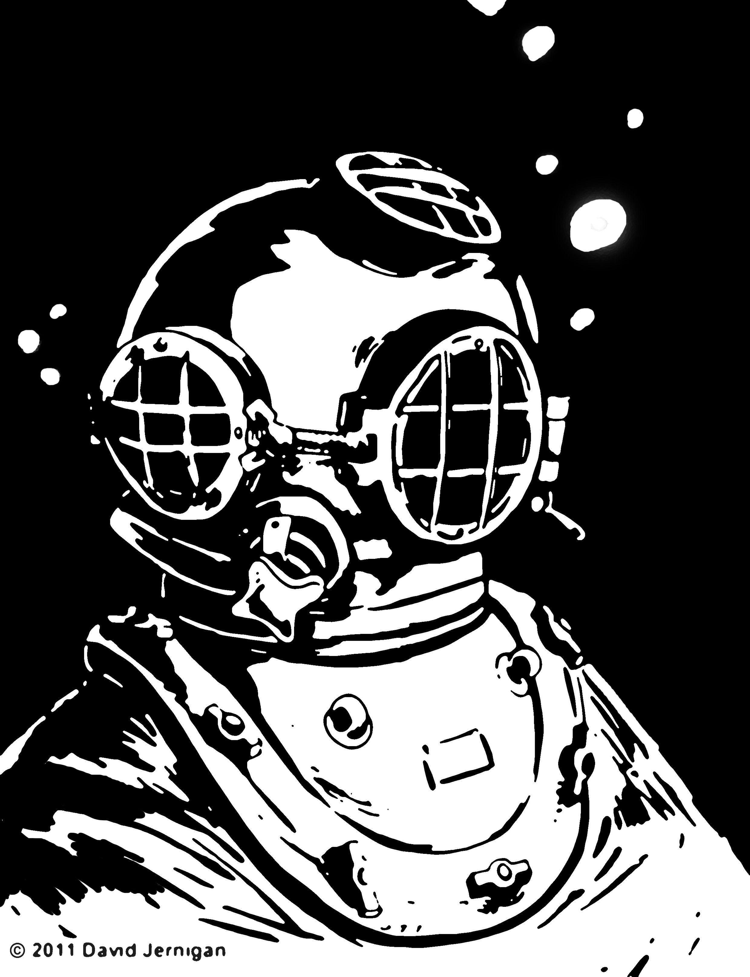 скафандр водолаза рисунок авиасообщение россии