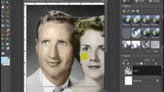 Change a Black and White Photo to a Color Photo with Photoshop Elements 7, via YouTube.