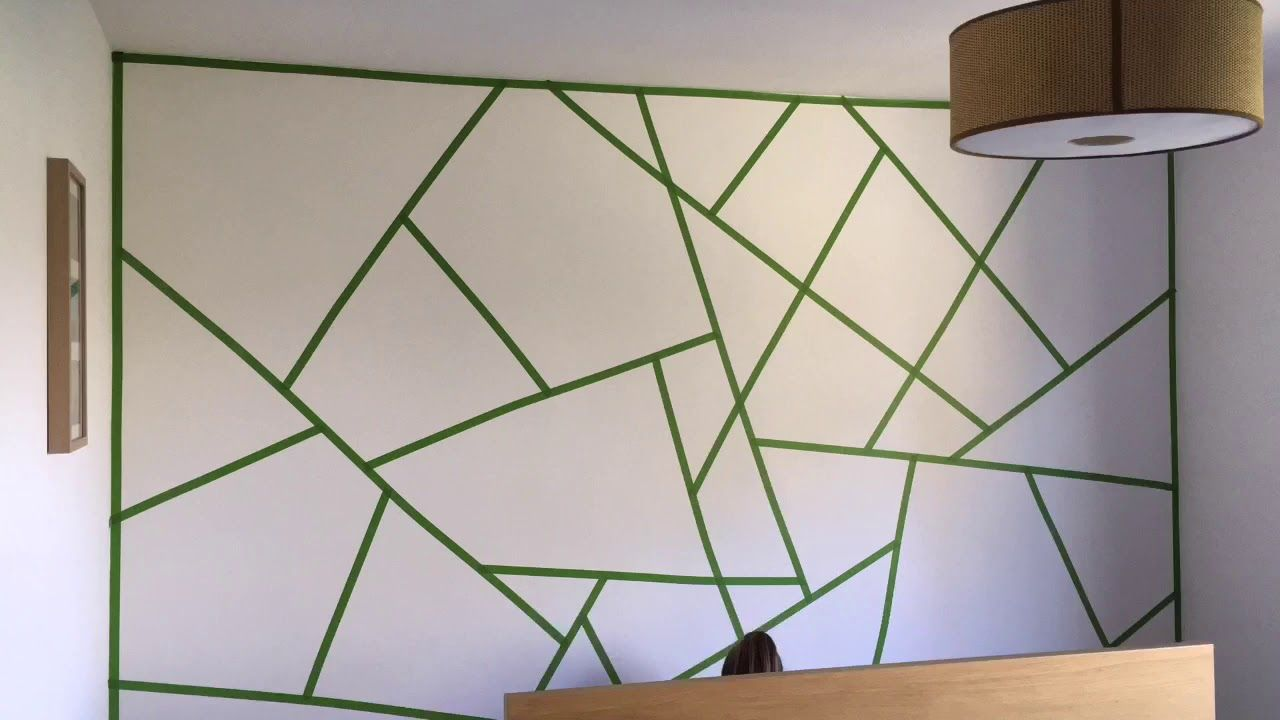 Triangle Paint Wall The Making Of Youtube Geometric Wall Paint Bedroom Wall Paint Diy Wall Painting,How To Add Backsplash Tile