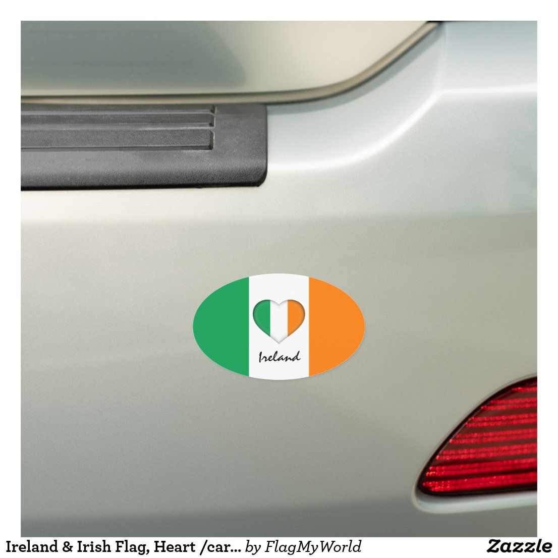 Ireland Irish Flag Heart Car Travel Sticker Car Magnet Zazzle Com Travel Stickers Car Travel Irish Flag [ 1106 x 1106 Pixel ]