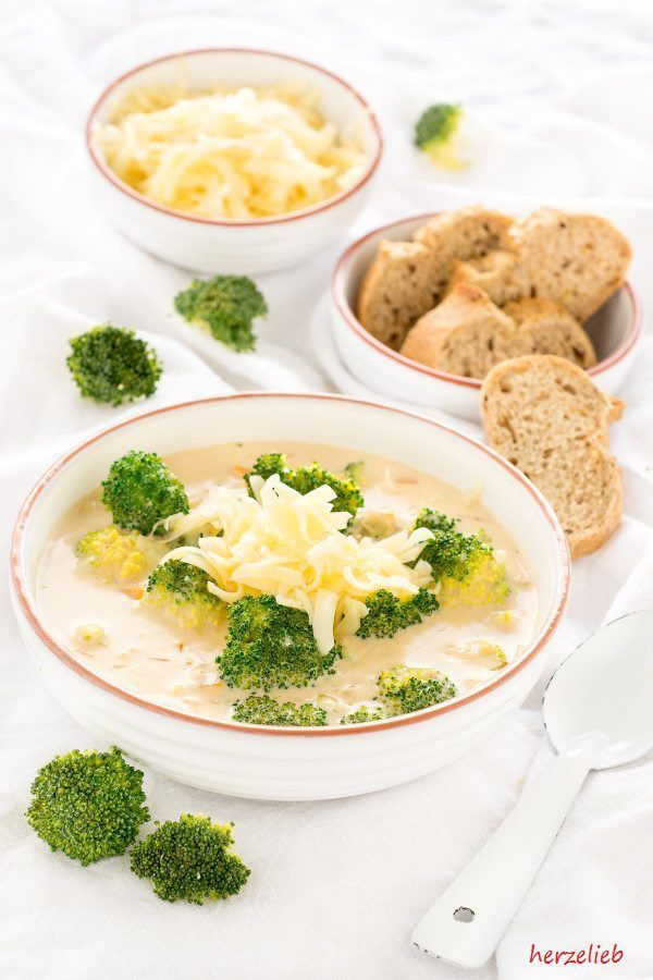 cheese soup with broccoli recipe kasesuppe mit broccoli rezept copyright by herzelieb
