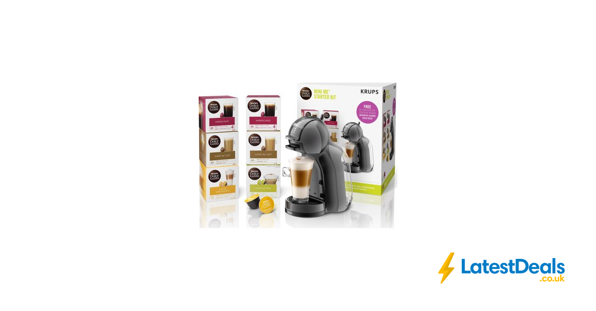 Dolce Gusto By Krups Mini Me Coffee Machine Starter Kit With
