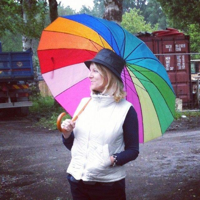 Mature.model.style-Raining with rainbow    https://instagram.com/mature.model.style/