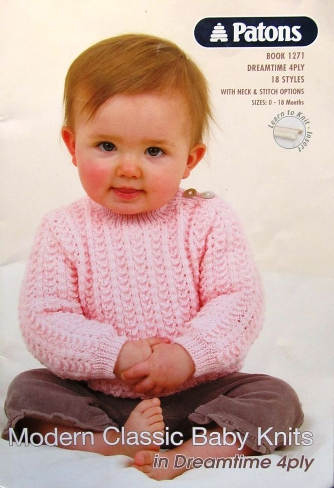 23d877314d3b Patons Pattern Book 1271 Dreamtime Merino 4ply 18 Styles with ...