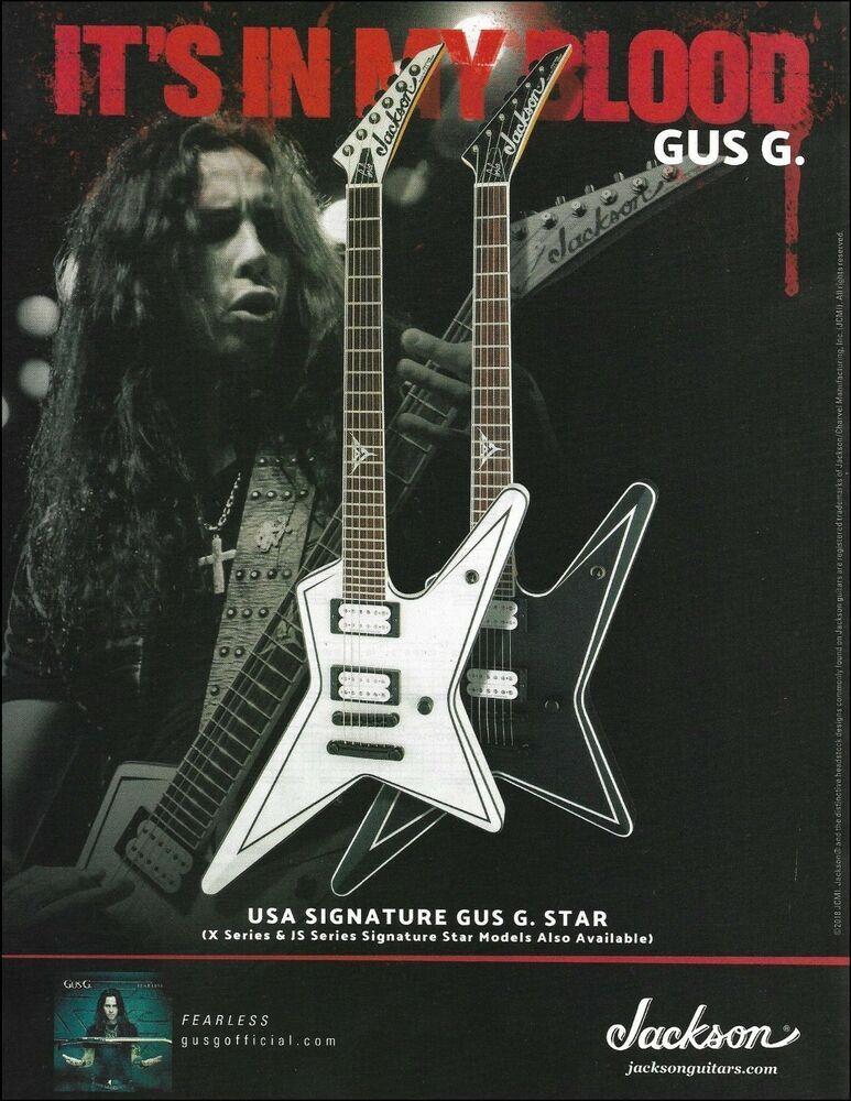 Jackson USA Signature Gus G. Star Series Guitar ad 8 x 11