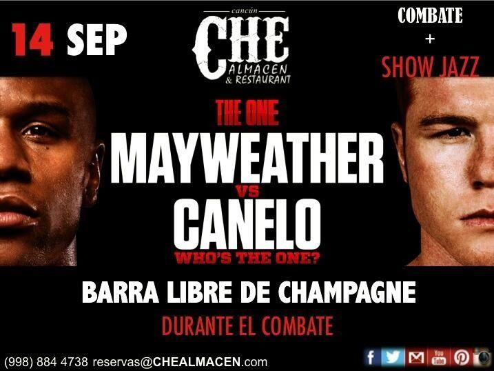 Sábado 14 somos la mejor opción de Cancún Combate de box y Show de Jazz, Bossa y Tango.
