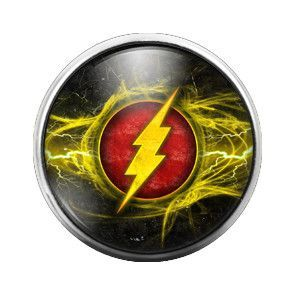The Flash 18MM Glass Dome Candy Snap Charm GD0109