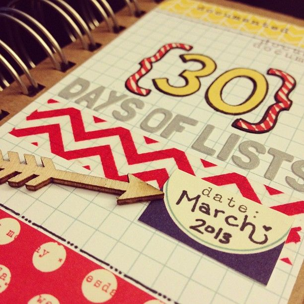 30 Lists Registration is Open. Perfect for Project Life @rukristin 's book for #30Lists