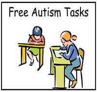 autism sit with tasks, behavior support and printables