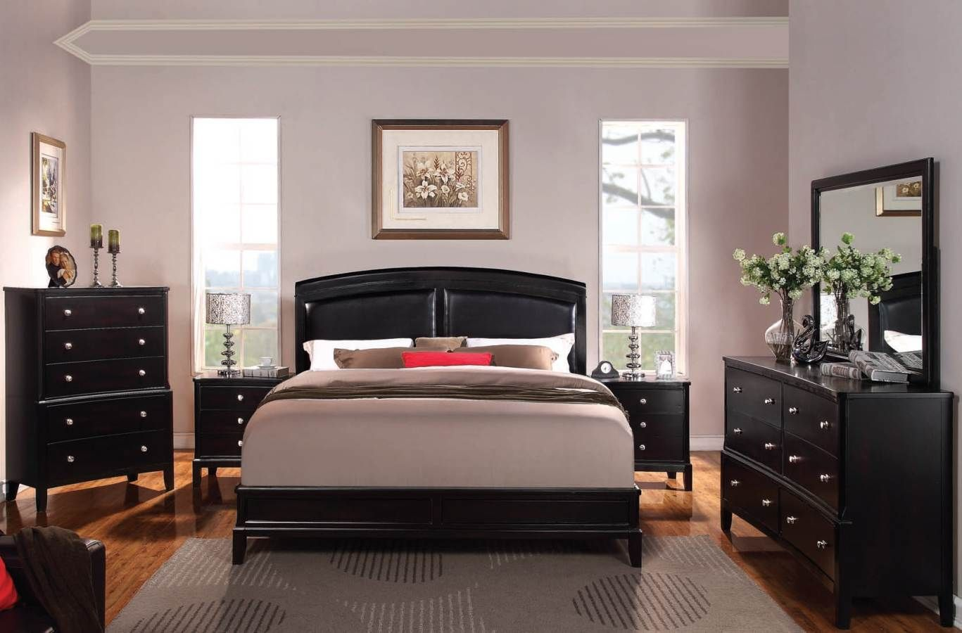 Bedroom Sets Espresso abram contemporary espresso master bedroom set 21394-bd | bedrooms