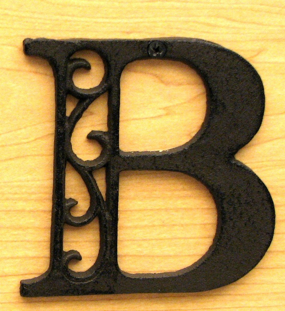 Cast Iron Letter B | Iron, Alphabet letters and Products