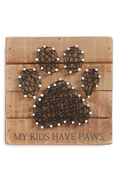 """Photo of Primitivos de Kathy Paws String Art – """"Mis hijos tienen patas"""". El perfecto …"""