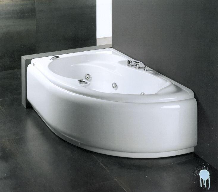 Glass vasca da bagno lis 150 x 100 vasca con telaio - Mezza vasca da bagno ...