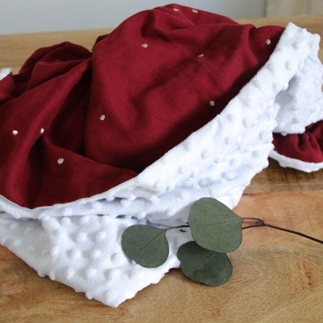 Tuto couture : couverture bébé en Minky