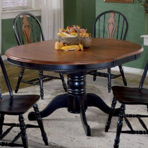 Amazon Com Sunset Trading 48 Inch Round Dining Table With Butterfly Leaf Color Black Cherry Home Kitc Round Dining Table Dining Room Table Dining Table