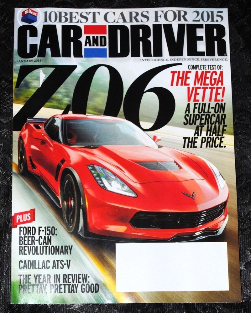 CAR AND DRIVER MAGAZINE January 2015 | eBay Listings For 2017 ...