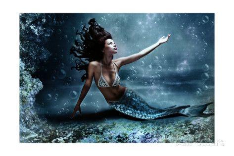 Bath Mermaid Tattoo Artist Custom Lithograph Susana Alonso Fine Art Print