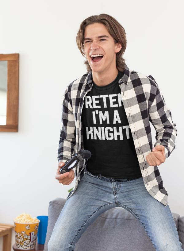 Pretend I'm Knight T-Shirt Lazy Costume Gift #mamp;mcostumediy