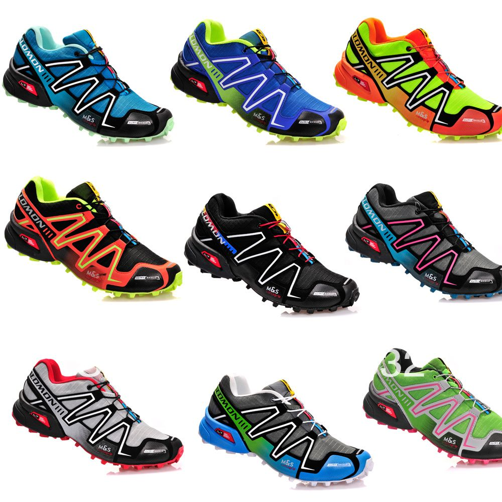 a2c8cded3bb53 2013 Hot New Men's Salomon Speedcross 3 Athletic Running Sports Man Shoes  Outdoor US 7 11.5 Wholesale Solomon Trail Racing-in Men's Shoes fr.
