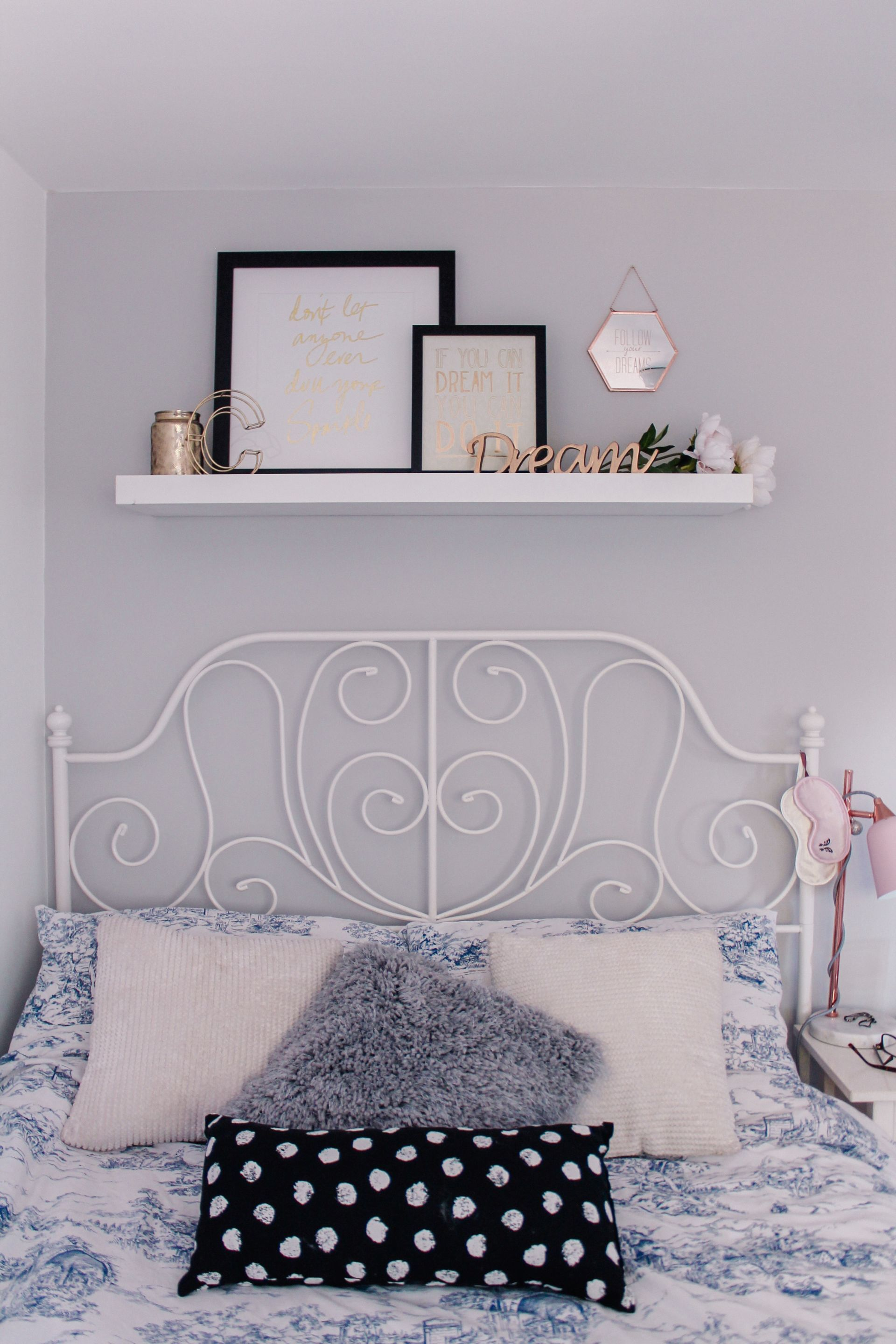 Styling Over Bed Shelving – Style and Splurging