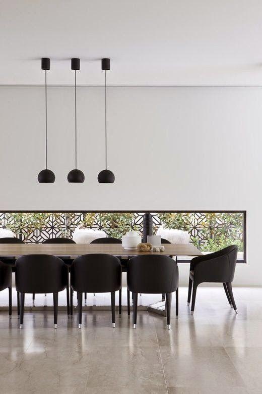 15 comedores decorados en blanco y negro interiores - Comedores decorados modernos ...