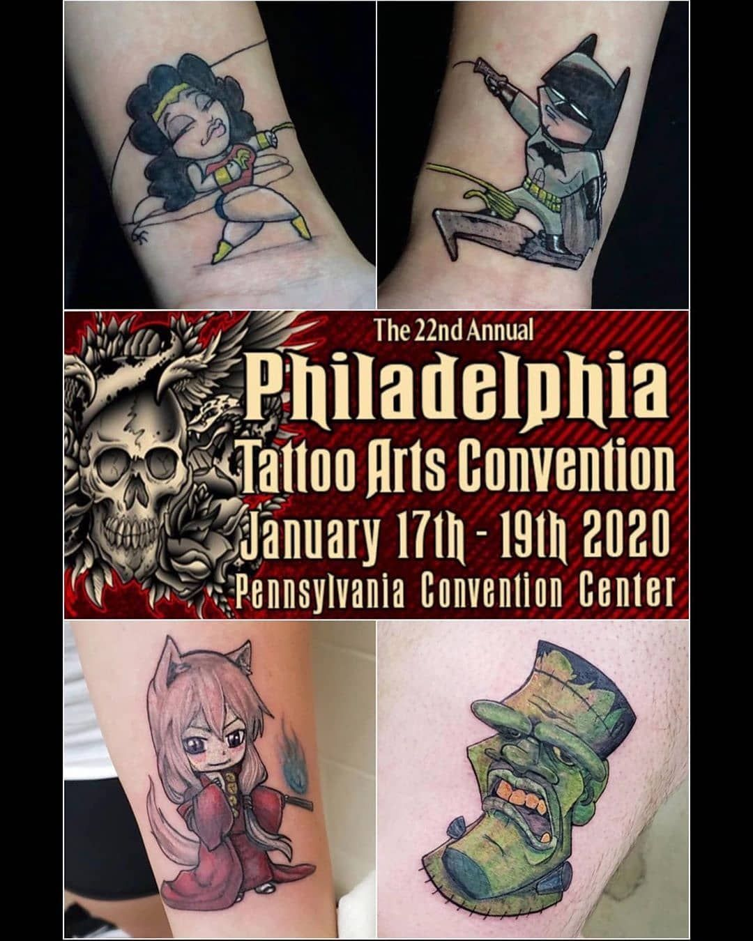 @haferks will be joining @villainarts for the 22nd Annual Philadelphia Tattoo Arts Convention January 17th - 19th...
