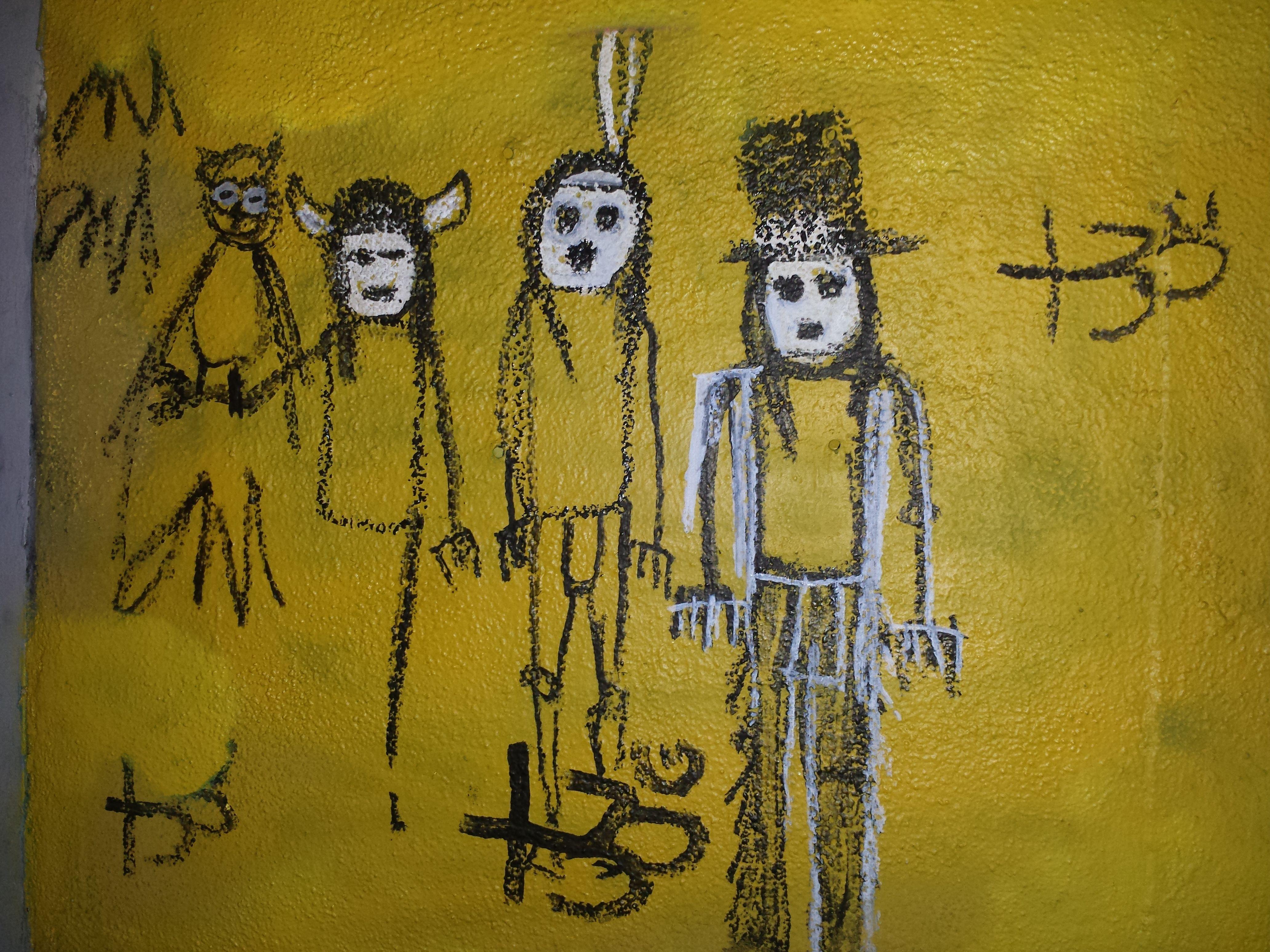 LA art is creepy and weird, but I love it! Seen scrawled on a random ...