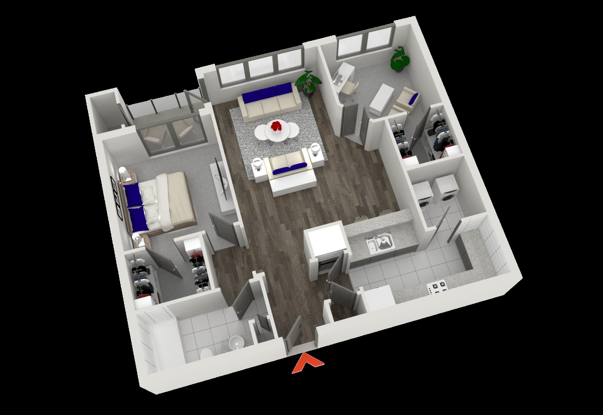 Studio, 1 & 2 Bedroom Apartments In Atlanta | Floor plans ...