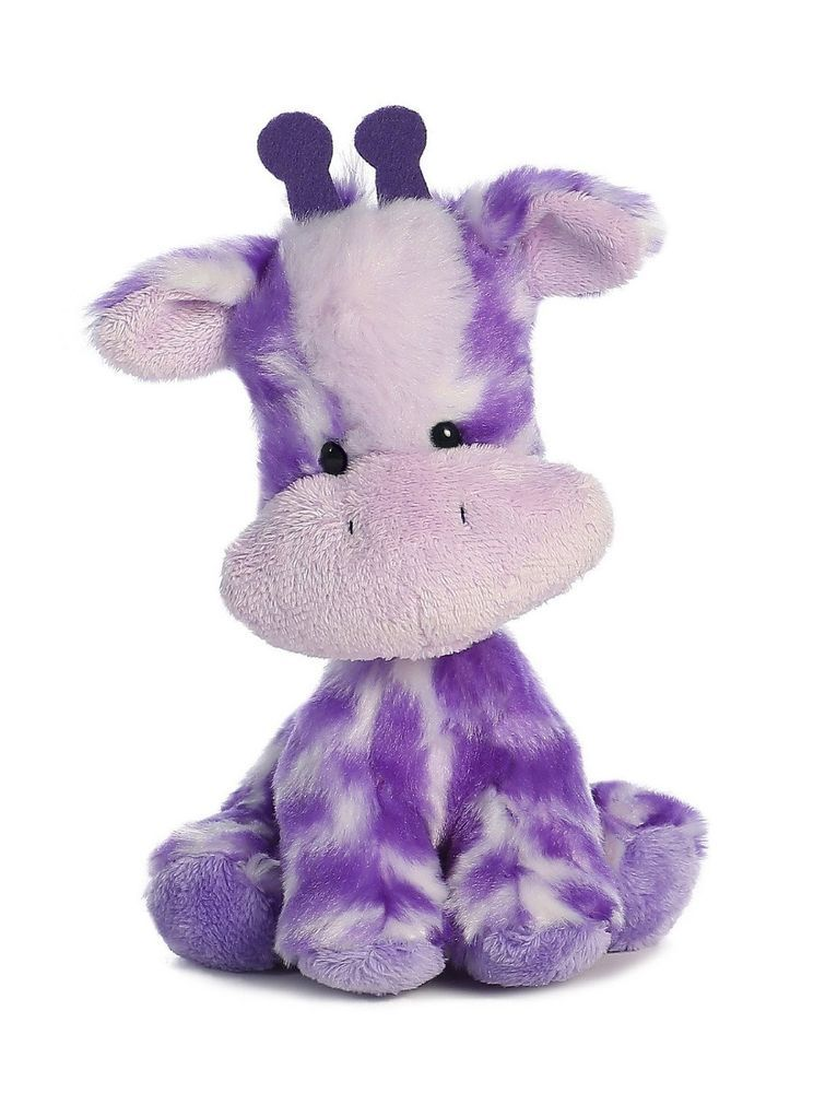 AURORA Toy Stuffed Animal Wobbly Bobblees Valentine Purple 07783 GIGGLY GIRAFFE #Aurora
