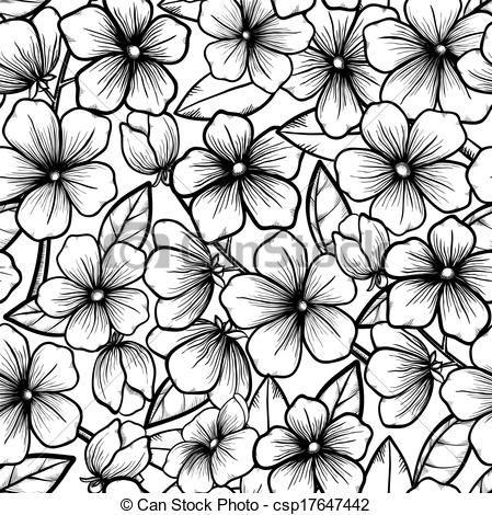 Painel De Flores Flores Preto E Branco Preto E Branco E