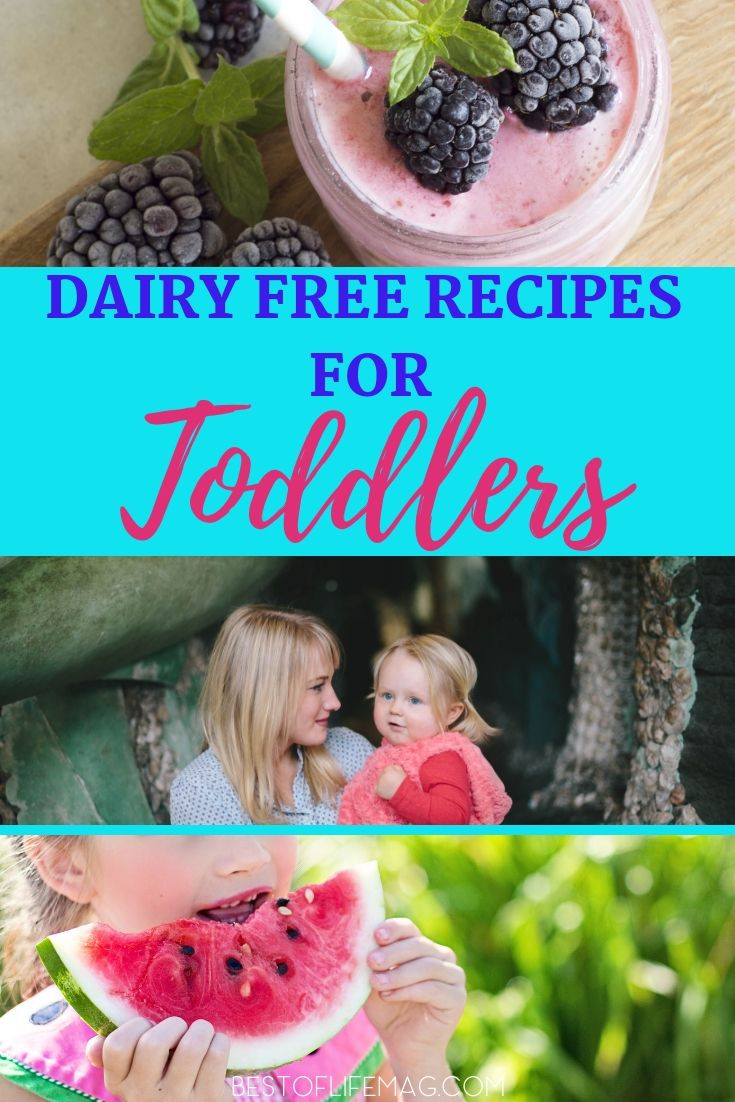 Children are simple to cook for, even in a dairy free home, when you have easy and delicious dairy free recipes for toddlers.  Dairy Free Breakfast Recipes |  Dairy Free Lunch Recipes | Dairy Free Dinner Recipes | Dairy Free Snacks | Healthy Recipes #dairyfree #dairyfreesmoothie