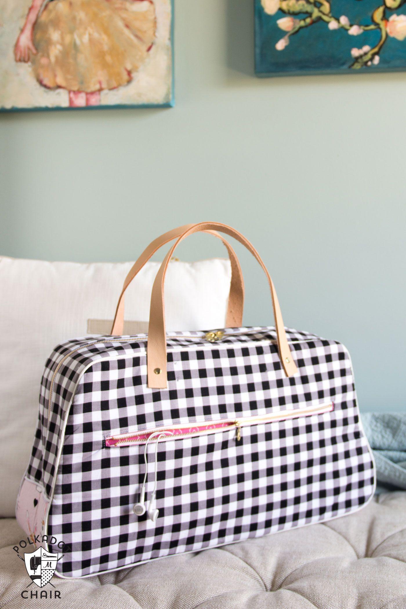 Refreshed Retro Travel Bag Sewing Pattern | Bolsos