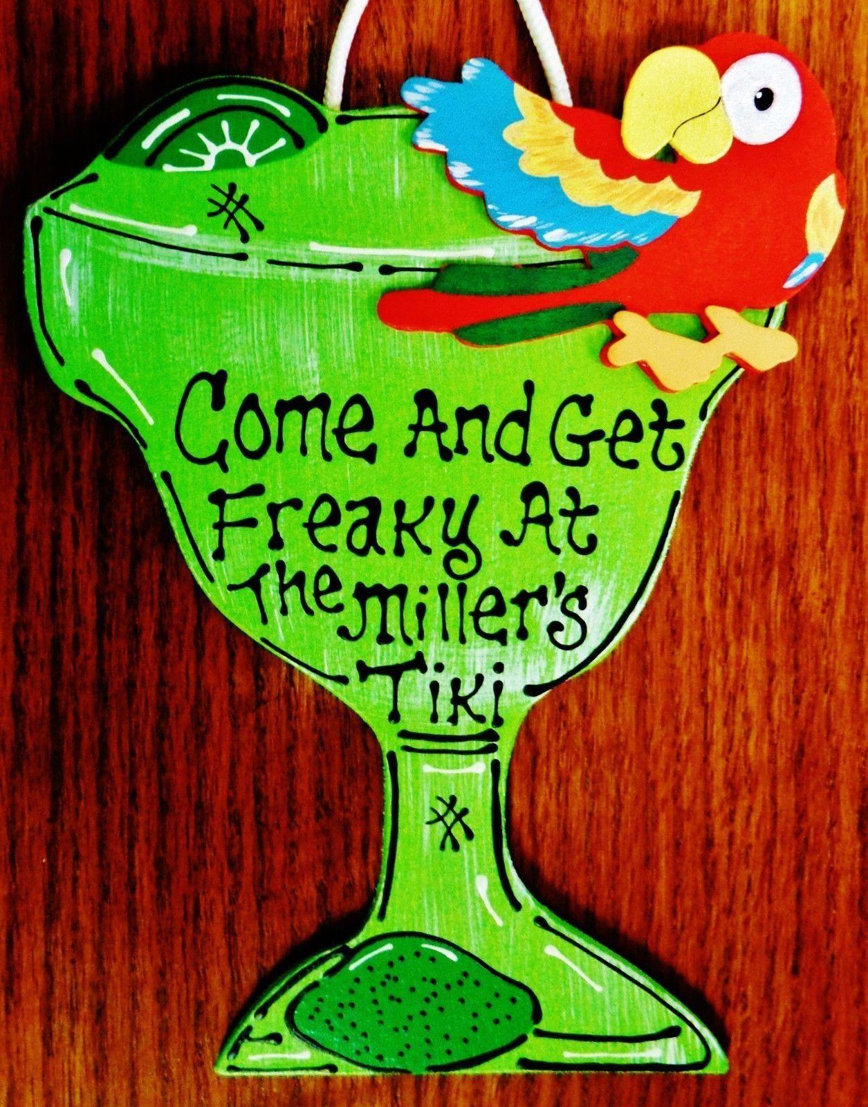Margarita Personalized Come Get Freaky Name Sign Tiki Bar Etsy In 2020 Tiki Bar Tiki Signs Craft Mesh Wreaths