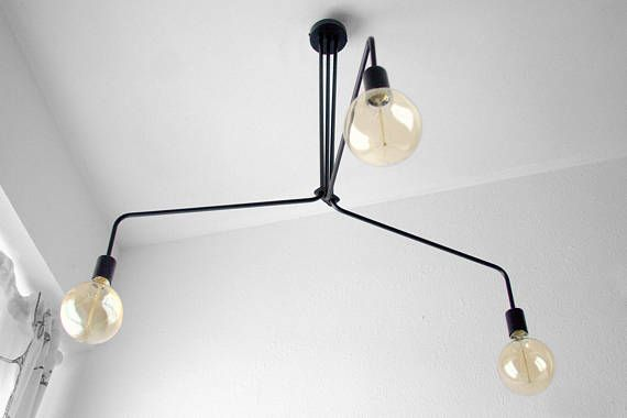 Black Modern Chandelier 3 Arms A Collection Of Modern Mid Century