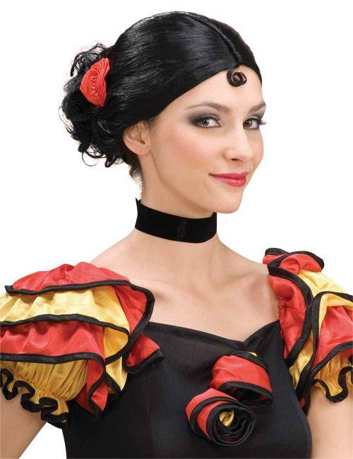 spanierin frisur eviva espana flamenco fasching. Black Bedroom Furniture Sets. Home Design Ideas